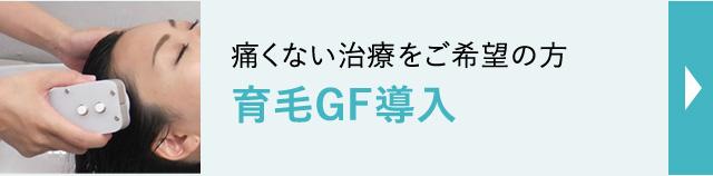 痛くない治療をご希望の方育毛GF導入