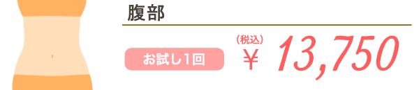 腹部 お試し1回 ¥17,600(税込)